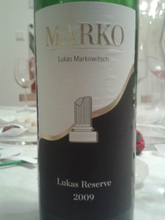 2009 Cuvée Lukas Reserve, Lukas Markowitsch