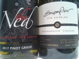 2017 The Ned Pinot Grigio und 2012 The Exemplar Viognier